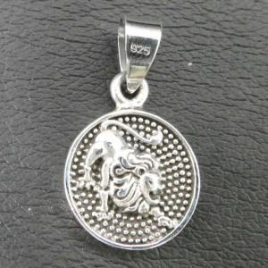 Pandantiv argint semn zodiacal Leu