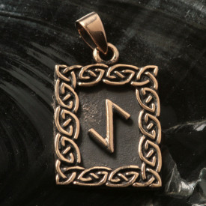 Pandantiv bronz runa Eiwaz