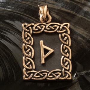 Pandantiv bronz runa Thurisaz
