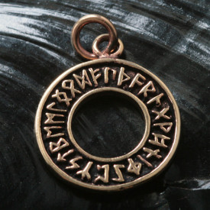 Pandantiv bronz Rune pe cerc