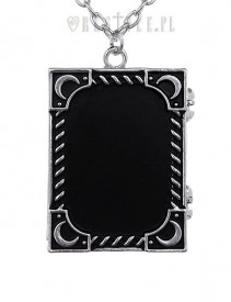 Pandantiv gotic pentru poza, locket, in forma de carte, Witch