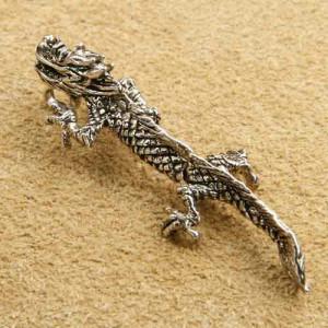 Pandantiv mobil din argint Dragon 6cm