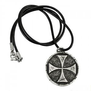 Pandantiv placat cu argint Crucea Templierilor