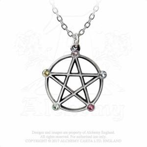 Pandantiv wicca Pentagrama Elementelor
