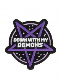 Petic textil decorativ / Patch brodat Down With My Demons