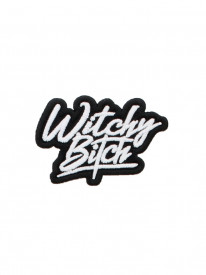 Petic textil decorativ / Patch brodat Witchy Bitch