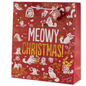 Punga cadou de Craciun Meowy Christmas - foarte mare