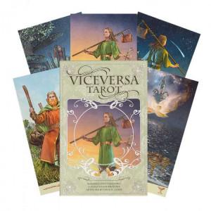 Set carti tarot cu brosura de instructiuni si carte despre arta tarotului Viceversa