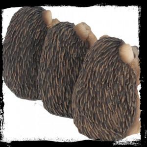 Set statuete Trei arici intelepti 8.5 cm