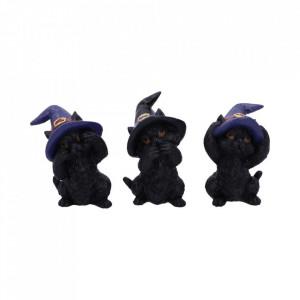 Set Trei pisicute vrajitoare intelepte 9.2cm