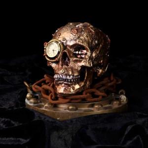 Statueta Craniu steampunk Scrapped 19cm