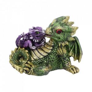 Statueta dragonei Dragonling Rest (Verde) 11.3cm