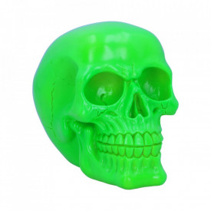 Statueta fosforescenta craniu Psychedelic - verde 15.5 cm