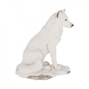 Statuetă lup alb Lupul Naluca 20 cm