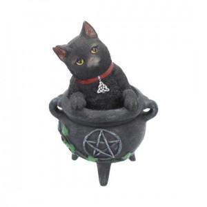 Statueta pisica neagra Smudge 12 cm
