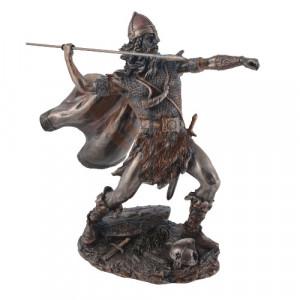 Statueta Razboinic viking cu sulita 20cm
