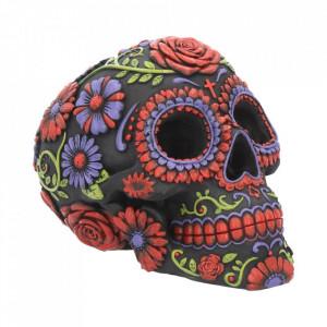 Statueta sugar skull Florile mortilor 18 cm