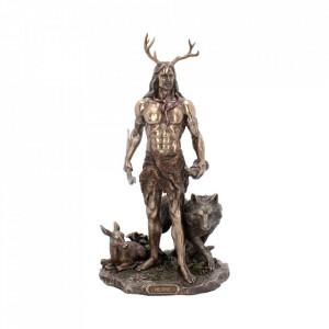 Statueta zeu celtic Herne si animalele 30 cm