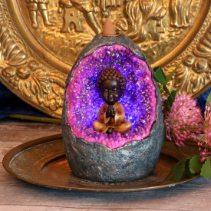 Suport conuri tamaie backflow Buddha Copil - Zen 14.5 cm