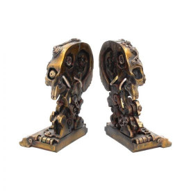 Suport lateral de cărți - book end - Craniu Steampunk