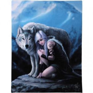 Tablou Canvas Lupul protector 19x25 cm