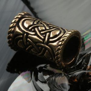 Bijuterie pentru barba/par bronz Nod celtic