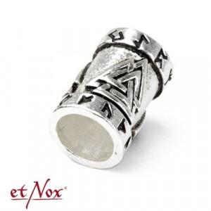 Bijuterie pentru barba/par bronz placat cu argint Nodul viking Wotan