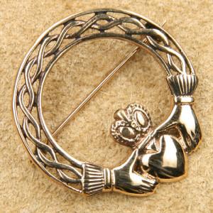 Brosa bronz Claddagh