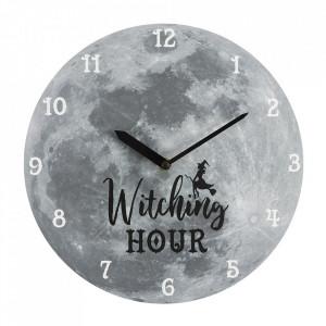 Ceas de perete gri Witching Hour