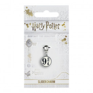 Charm placat argint licenta Harry Potter Platforma 9 3/4