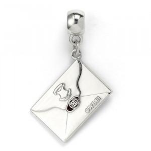 Charm placat argint licenta Harry Potter Scrisoarea de Acceptare in Scoala Hogwarts