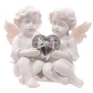 Decoratiune Doi Ingerasi cu inimioara 6.5 cm