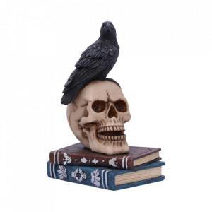 Figurina corb pe craniu Vraja Corbului 10.3 cm