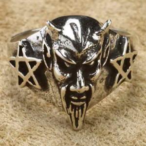 Inel argint Demon
