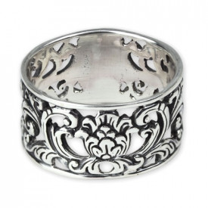 Inel argint Ornament Floral