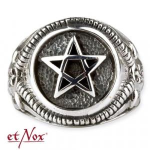 Inel argint Pentagrama cu cap de antilopa