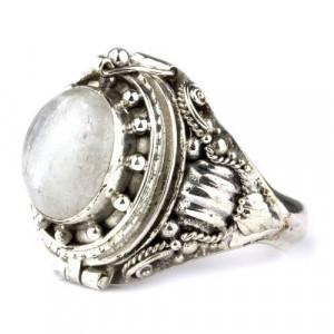 Inel argint Poison Ring cu piatra lunii R166M