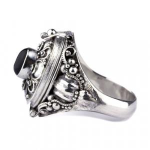 Inel Poison Ring cu onix R165O