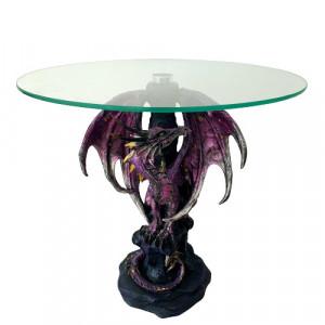 Masuta sticla dragon Gardianul violet 36 cm