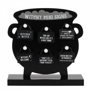 Mini placuta decorativa metal Witchy