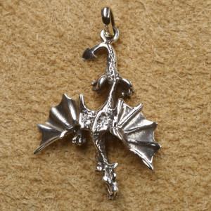 Pandantiv argint Dragon 4.4 cm