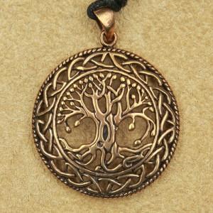 Pandantiv bronz Copacul Vietii cu nod Celtic