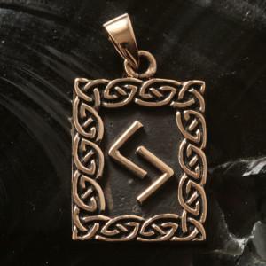 Pandantiv bronz runa Jera