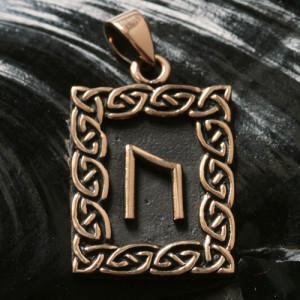 Pandantiv bronz runa Uruz