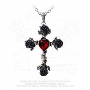 Pandantiv cruce gotică Rosifix negru