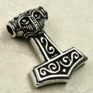 Pandantiv din argint Ciocanul lui Thor 3.5 cm