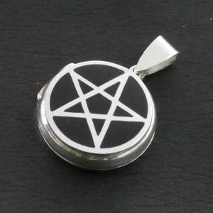 Pandantiv medalion argint pentru poza Pentagrama