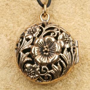 Pandantiv medalion bronz pentru poza Flori