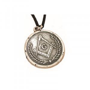 Pandantiv placat argint Simboluri masonice