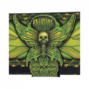 Portofel lung embosat Absinthe - La Fee Verte - 18 cm